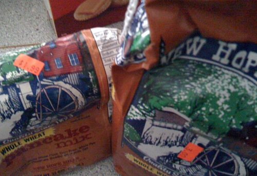 The price of New Hope Mills wheat pancake mix went from $1.99 to $3 in between times I bought it? Inconceivable!