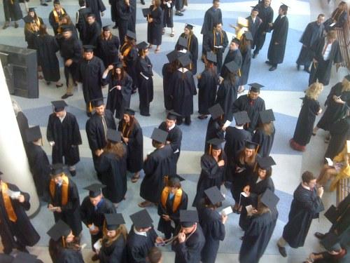 Fig. A: Graduates gathering.
