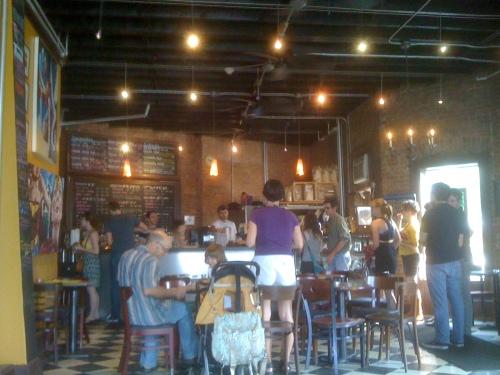 Boulder Coffee's tasteful decor.
