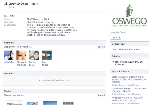Not SUNY Oswego's page