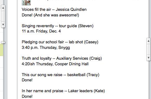 Shoot schedule, already in progress