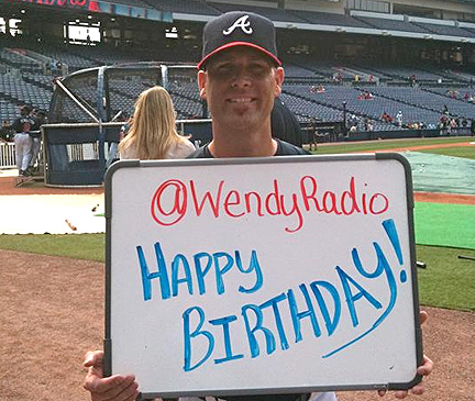 Braves wish fan happy birthday
