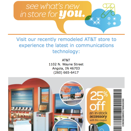 a not-too-helpful email from AT&T