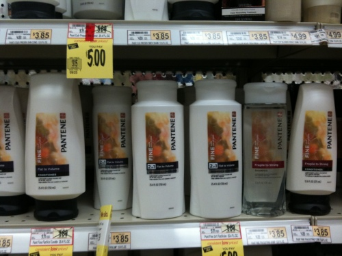image of Pantene bottles on Wegmans shelves