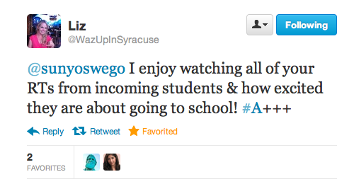 Yes, we replied back and even favorited this lovely tweet, if that doesn't seem too meta.
