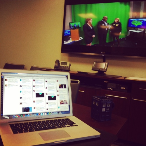 "Fortunately, I was able to commandeer a conference room to run social media for most of the ""Today"" show broadcast."