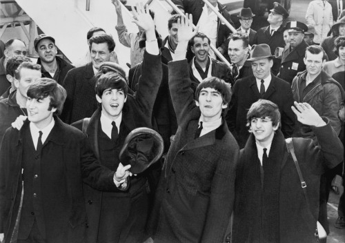 John, Paul, George and Ringo hit America