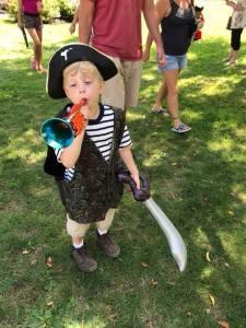 Arius in a pirate outfit