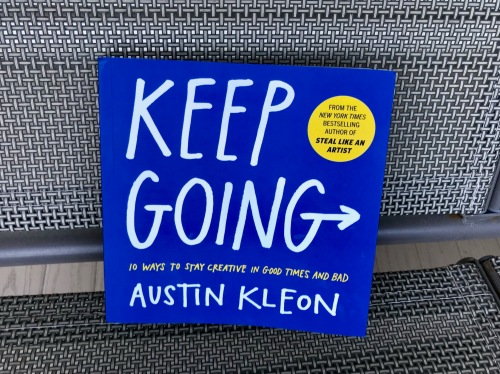 Cover of Austin Kleon's new book, Keep Going