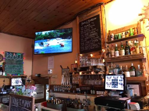 Bitters and Bones pub hosts a variety of drinks and even has a live feed of bears on a big TV
